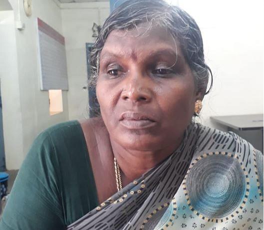 முன்னாள் ராணுவ வீரர் சுந்தரத்தின் மனைவி ராஜம்மாள்