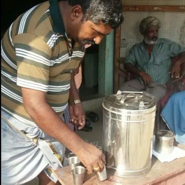 5 ரூபாய்க்கு சுடச் சுட மசாலா டீ;  தாமரங்கோட்டை மக்களின் ஃபேவரைட் டீக்கடை #MyVikatan