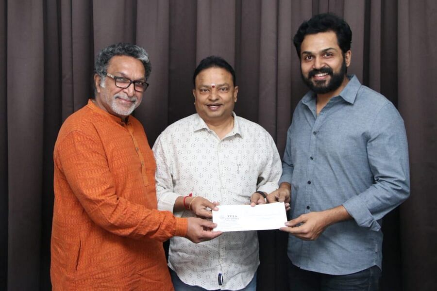 Nassar, Karthi and Isari Ganesh