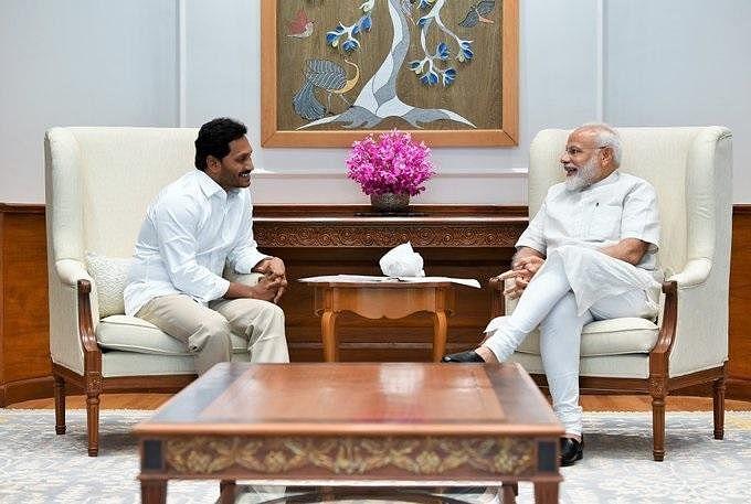 `பா.ஜ.க 250 இடங்களில் வென்றிருந்தால்..!'  - ஜெகன் மோகன் ரெட்டி போட்ட கணக்கு