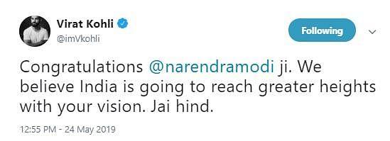 `இந்தியா புதிய உயரங்களைத் தொடப்போகிறது!' - மோடிக்கு சச்சின், கோலி வாழ்த்து