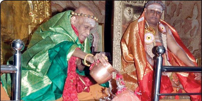 இளைய ஆதீனமாக சுந்தரமூர்த்தி நியமிக்கப்பட்டபோது...