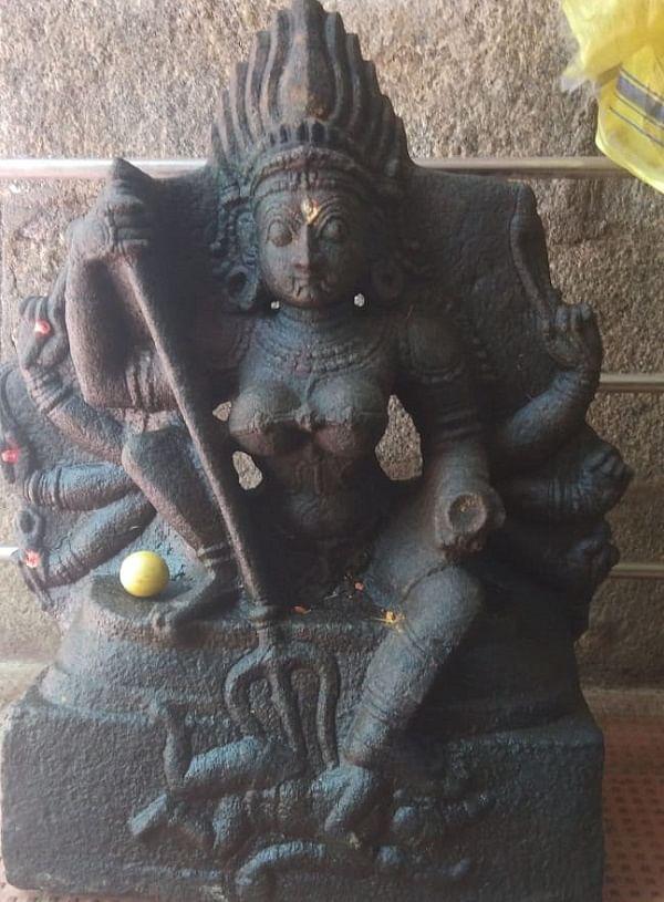 அணைக்குள் கிடைத்த மகிஷாசுரமர்தினி சிலை