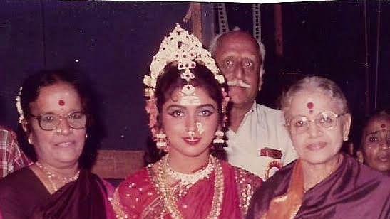 எம்.எஸ்.சுப்புலட்சுமி மற்றும் டான்ஸ் குருவுடன் ரேவதி