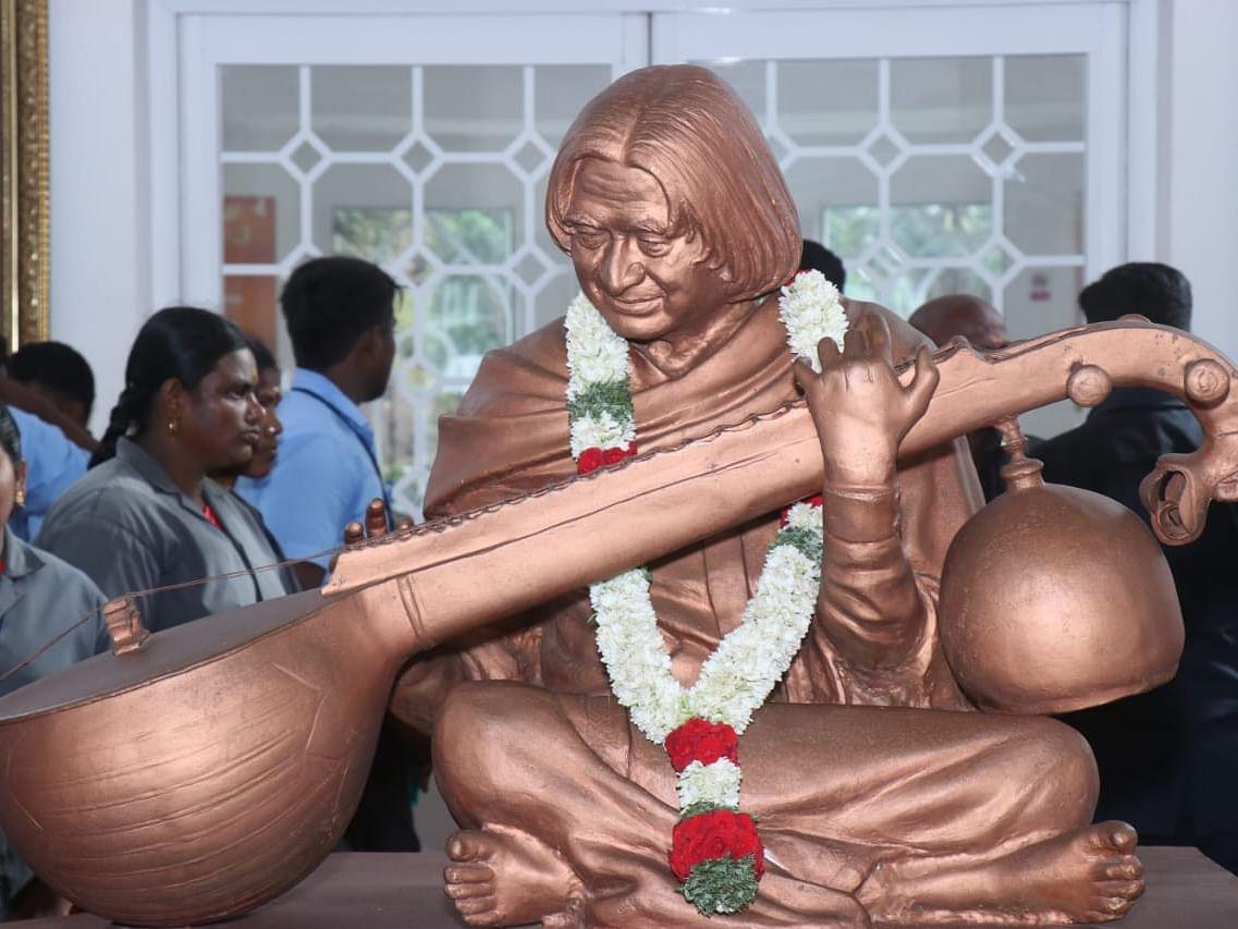 `அப்துல் கலாமின் லட்சியங்களைக் கடைபிடிப்போம்!' - நினைவுநாளில் உறுதியேற்ற மாணவர்கள்