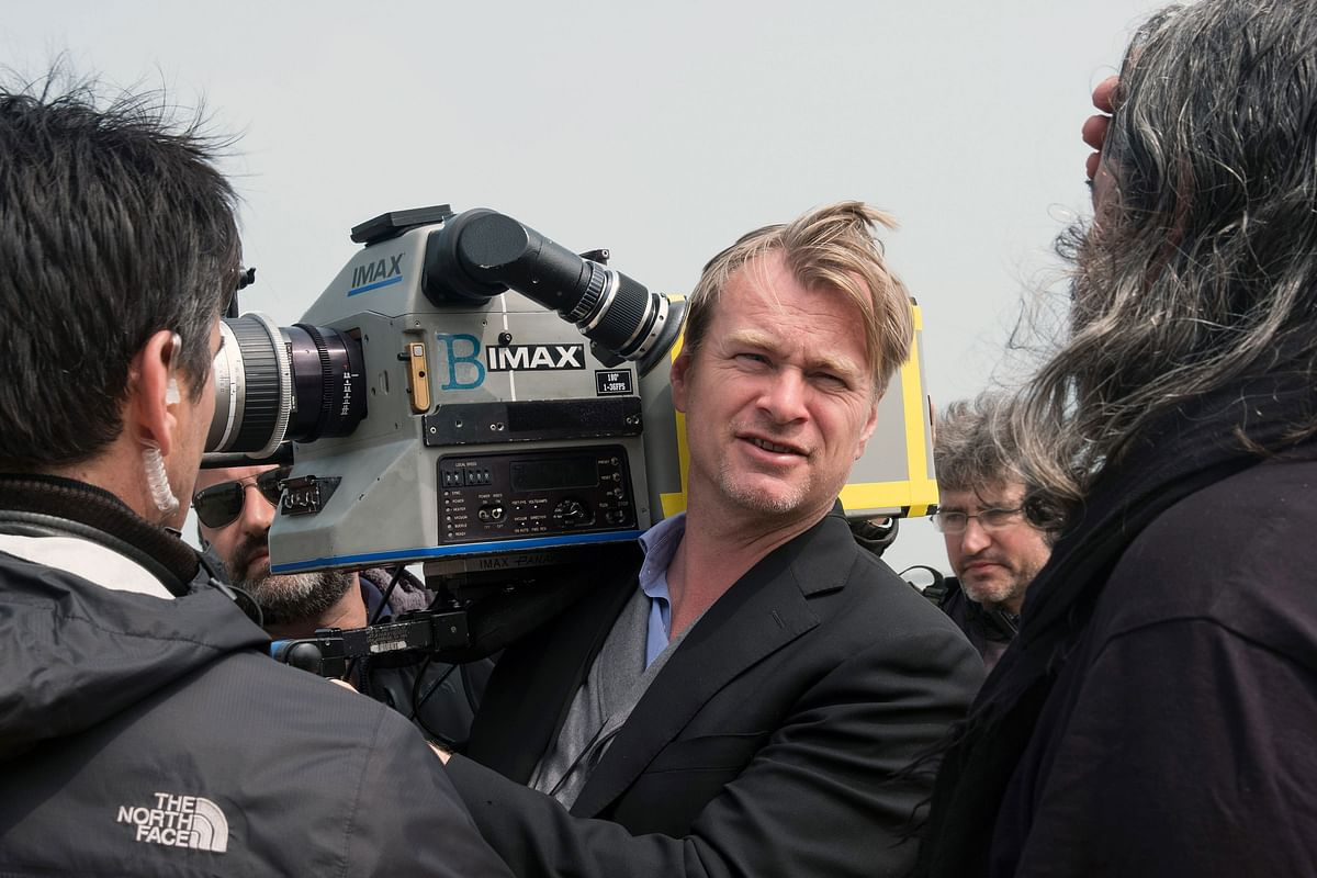 Christopher Nolan on the sets of 'Dunkirk'