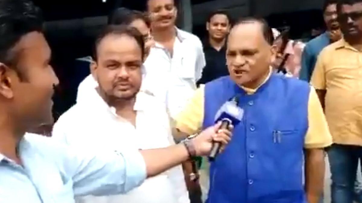 காங்கிரஸ் எம்.எல்.ஏ - பா.ஜ.க அமைச்சர்