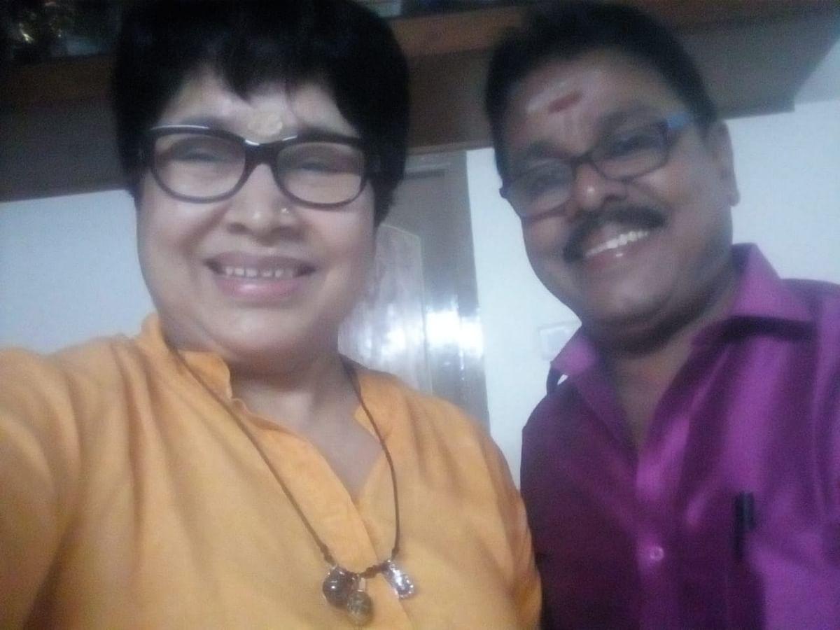 Kovai Sarala with Raja Gopal