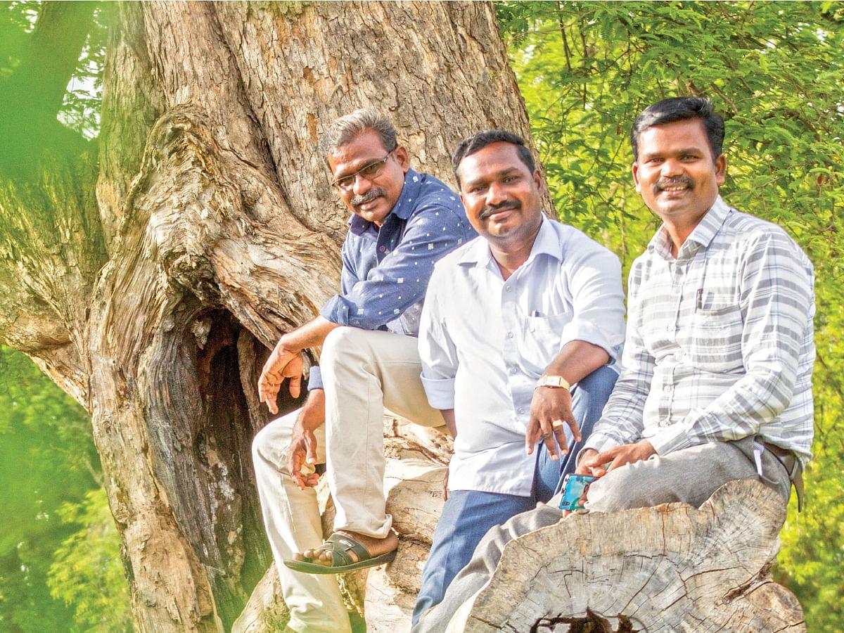 செருகுடி செந்தில், கு.இலக்கியன், கோ.பாரதிமோகன்