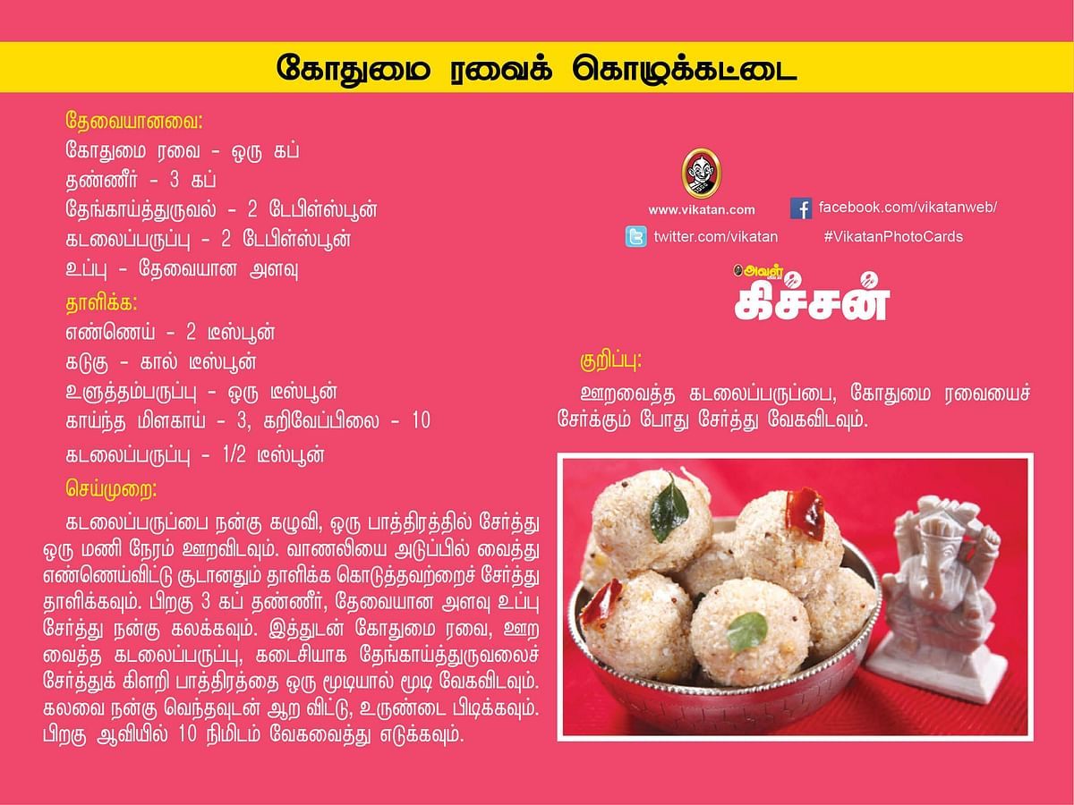 Vinayagar Chathurthi Recipes