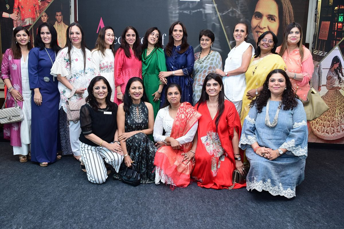 Anita Dongre with FLO team