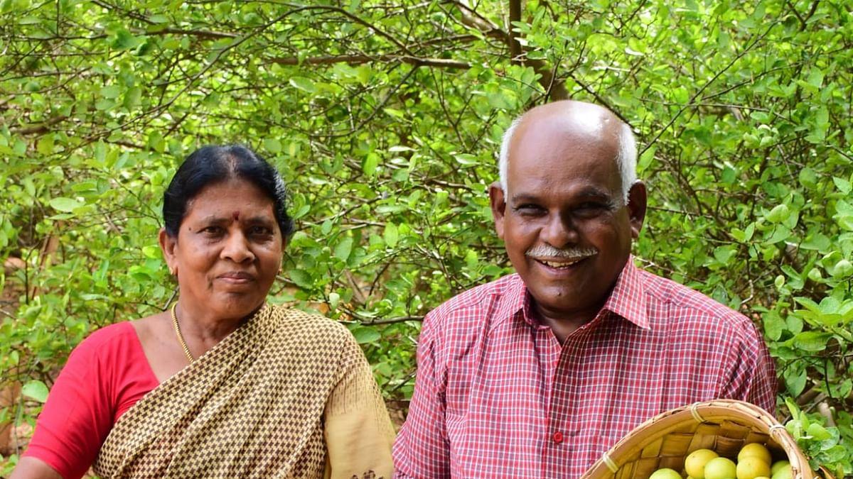 farmer shanmugavel and his wife