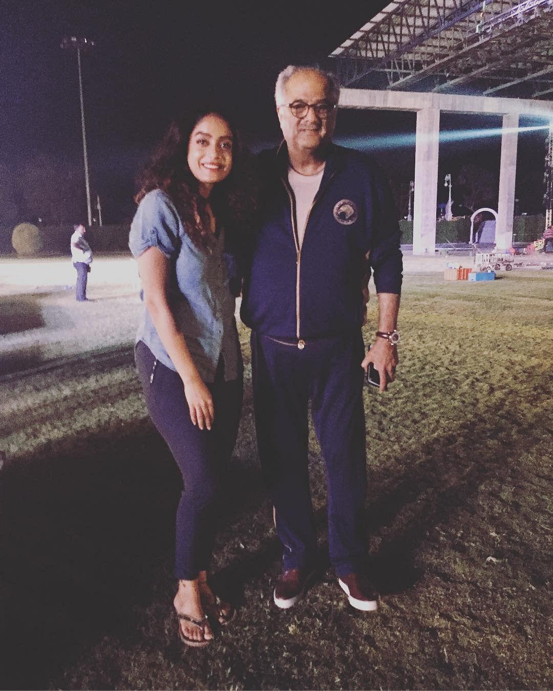Abhirami with Boney Kapoor