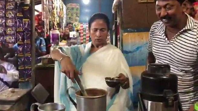 Mamata Banerjee Makes Tea