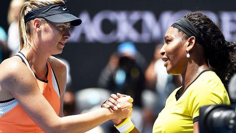 Serena Williams and Mario Sharapova