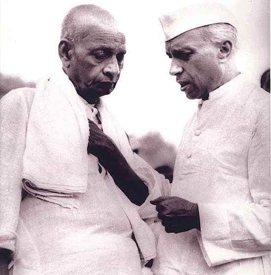 Vallabhai Patel, Jawaharlal Nehru