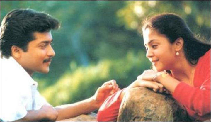 Suriya and Jyothika from the film