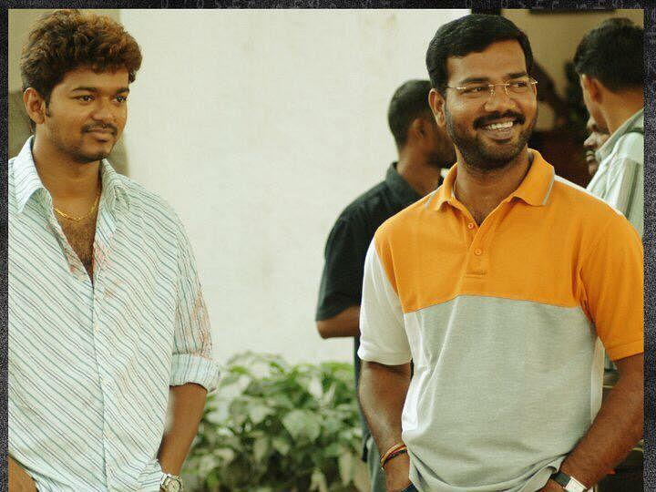 director ramana with actor vijay