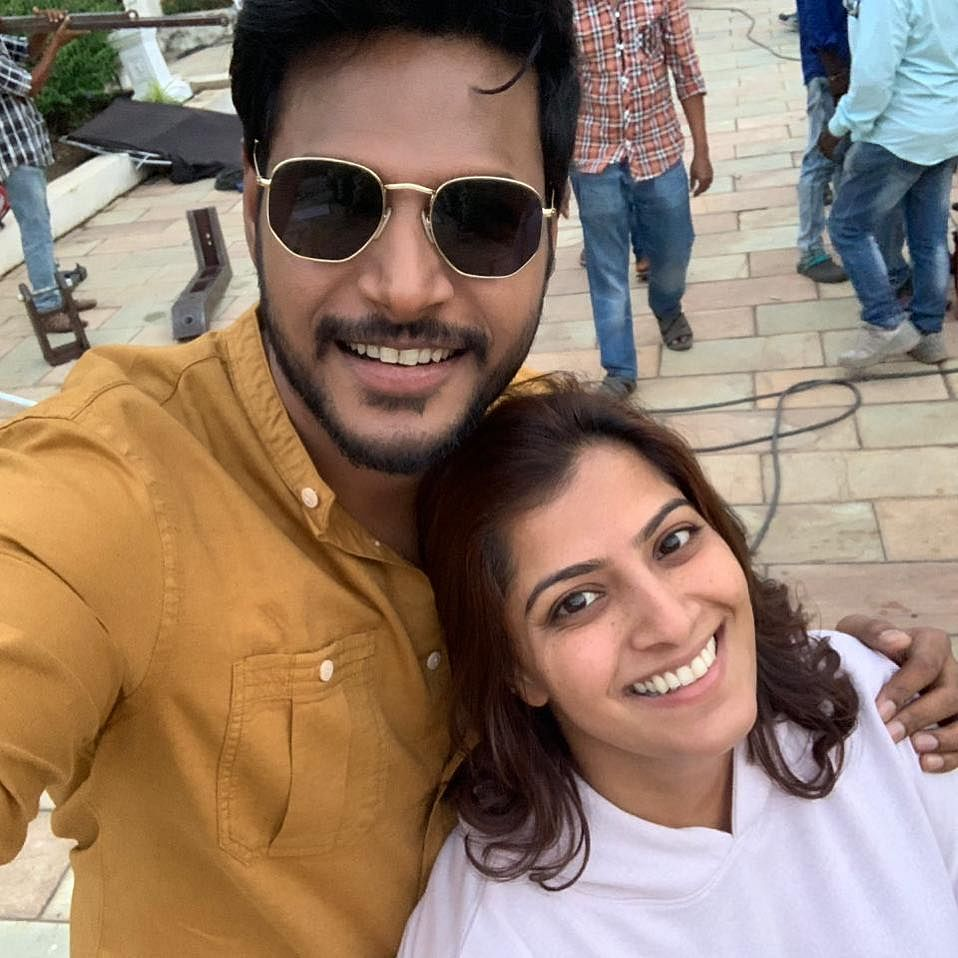 Sundeep Kishan with vara laxmi