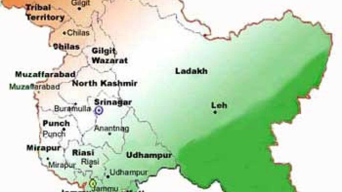 காஷ்மீர் வரைபடம்