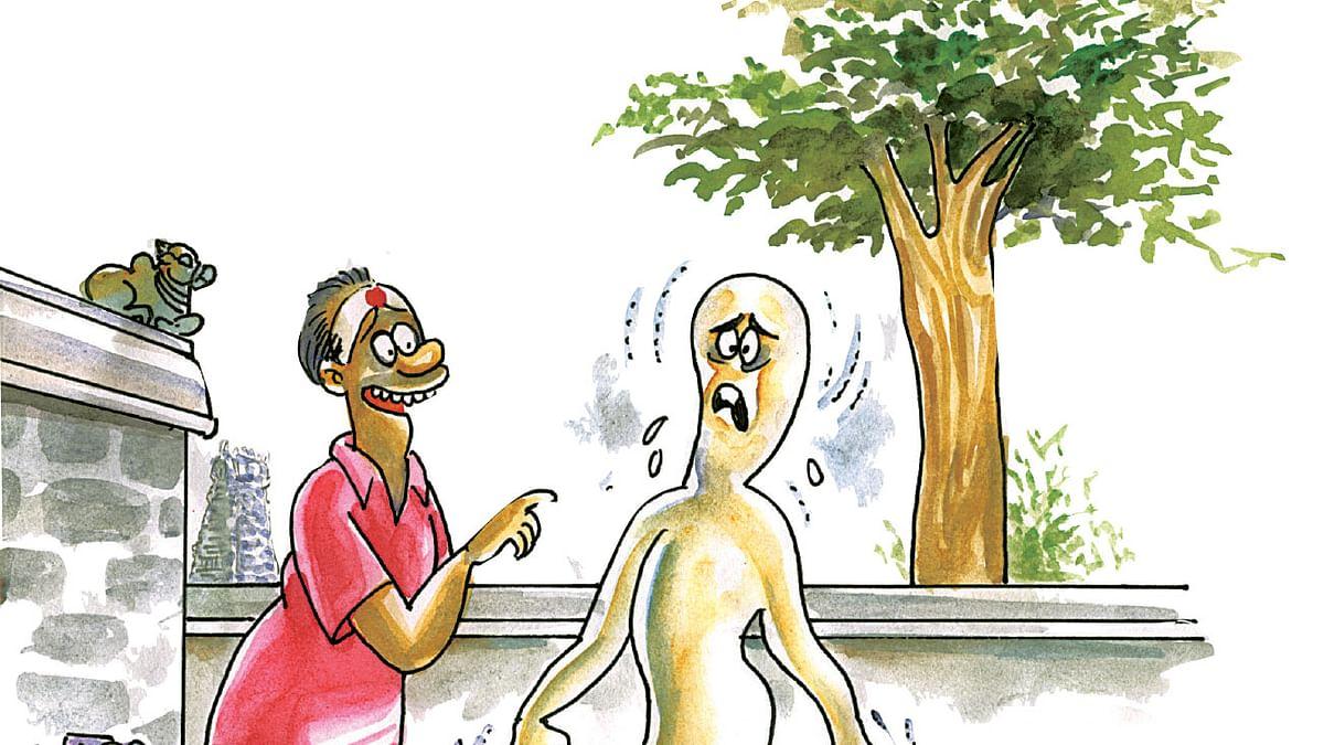 பக்தனிடம் பயந்த பேய்!