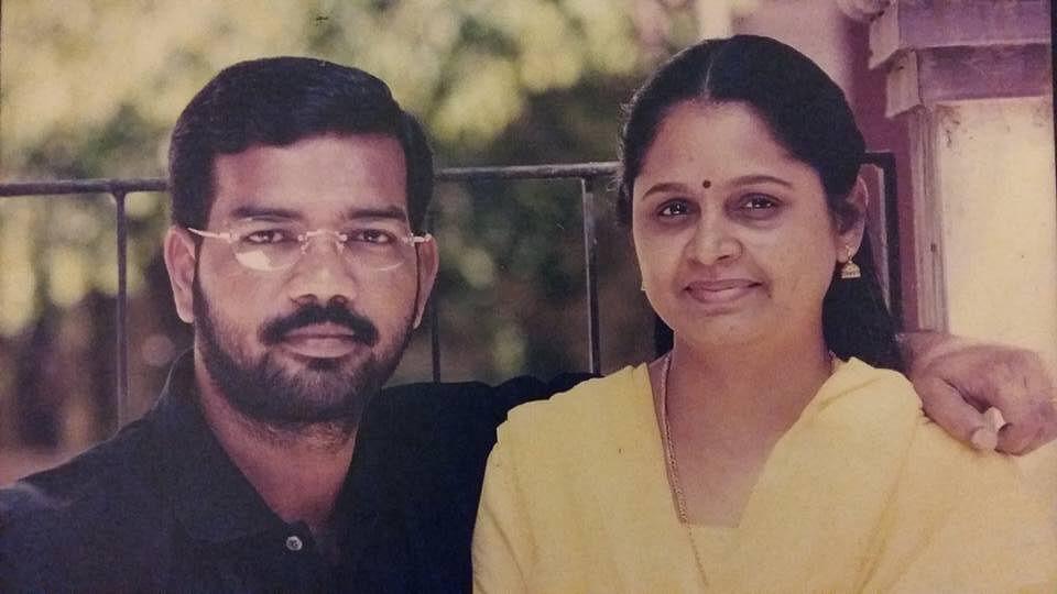 director ramana with wife