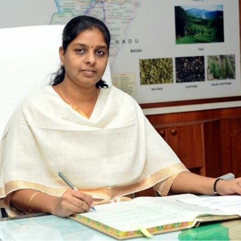 Theni Collector M Pallavi Baldev