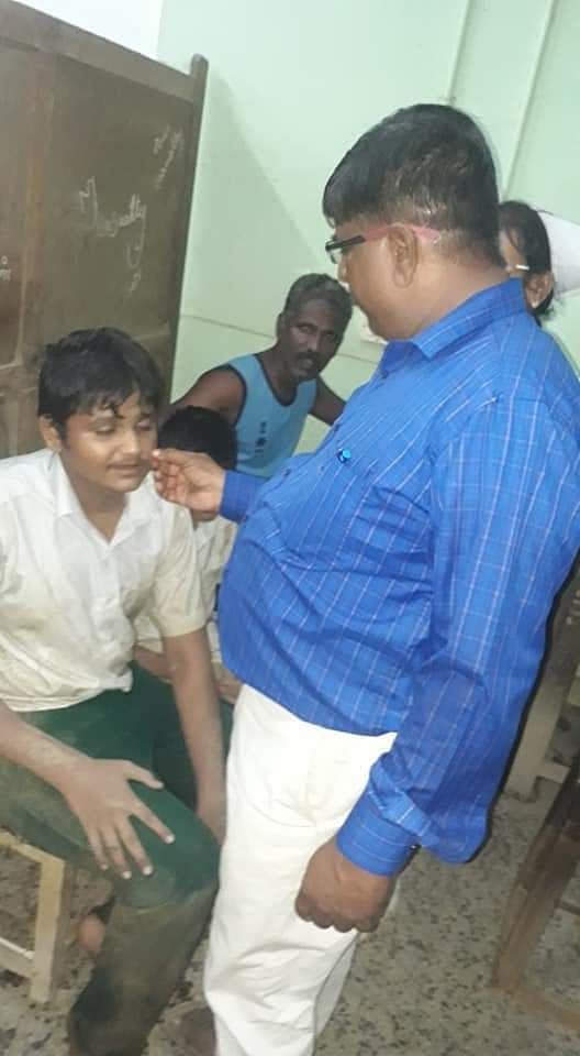 Rescued students