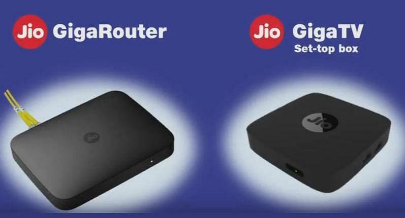 Jio Giga Router , Jio GigaTv