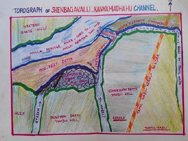 Topography of Shenbagavalli Dam