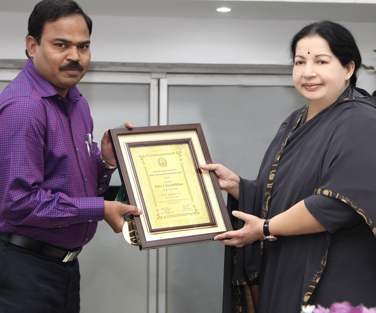 Shankar with Jayalalithaa