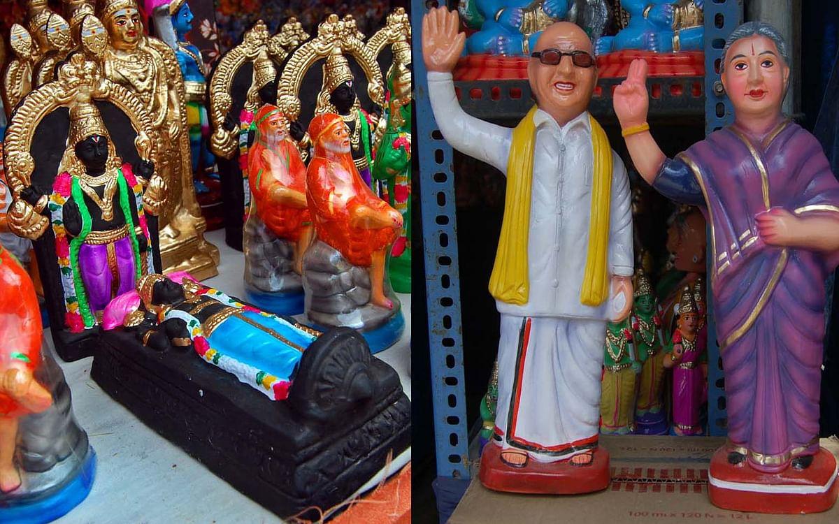 அத்திவரதர் முதல் கலைஞர், ஜெயலலிதா வரை... கண்ணை கவரும் வண்ணமயமான நவராத்திரி விழா கொலு பொம்மைகள்!
