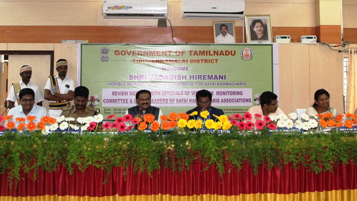 'ஜெகதீஷ் ஹிர்மாணி' தலைமையில், நடந்த ஆய்வுக் கூட்டம்.