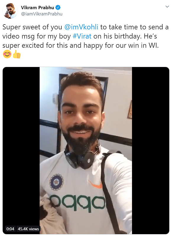 Vikram Prabu's Tweet