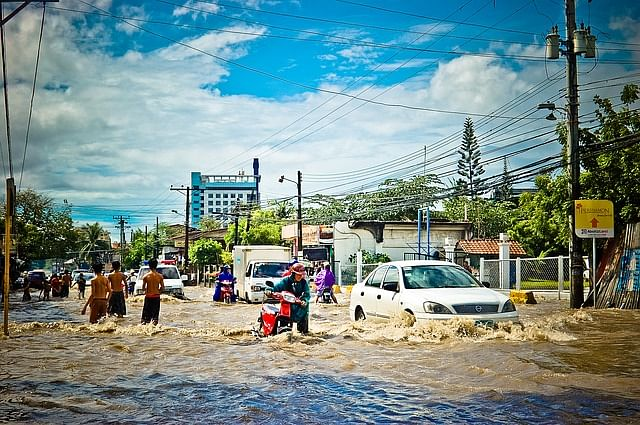 Rain flood