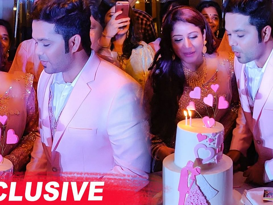 CAKE CUTTING: Alya Manasa & Sanjeev ROMANTIC Moments