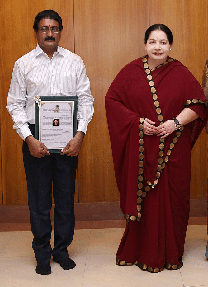 Ezhil with Jayalalithaa