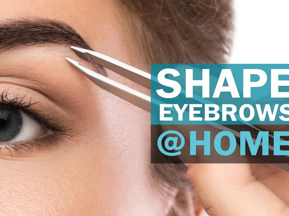 How to shape eyebrows at home? | Beginners | Self Shaping