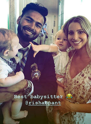 Pant with Tim paine family