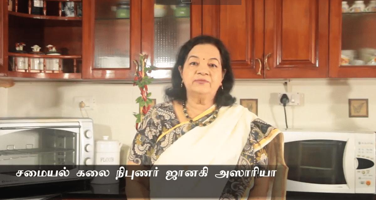 சமையல்கலை நிபுணர் ஜானகி அஸாரியா.