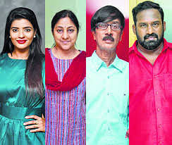 Kollywood Actors Aishwarya Rajesh, Rohini, Manobala, Robo shankar