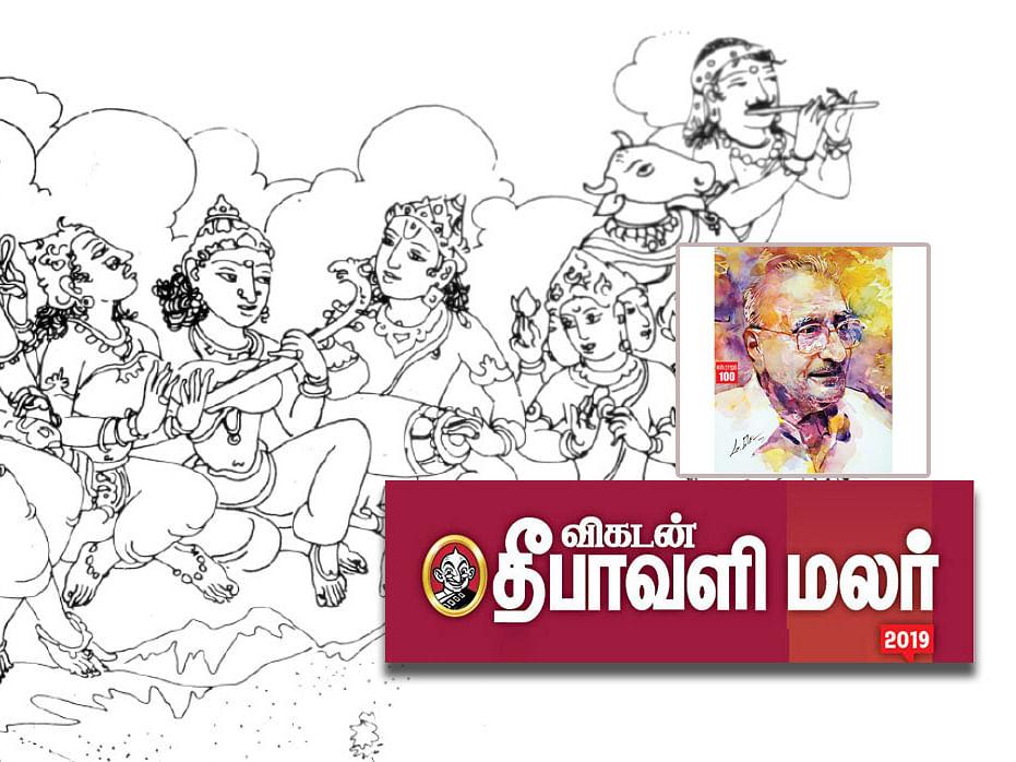 தேவியும் ராஜமும்: உட்கூரை ஓவியங்களின் மறுபதிவுக்குப் பின்னால்..!  #VikatanDiwaliMalar2019