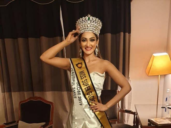 `மிஸ்சூப்பர்குளோப்வேர்ல்டு2019' வென்றார் சென்னைப் பெண் அக்ஷரா ரெட்டி!
