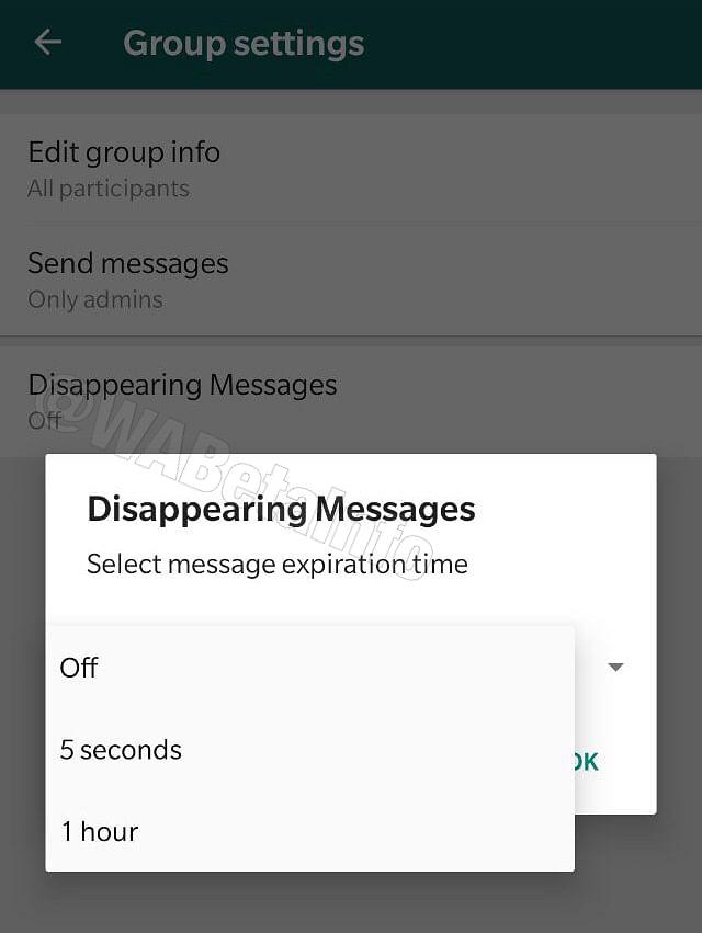 Self Destructing Message