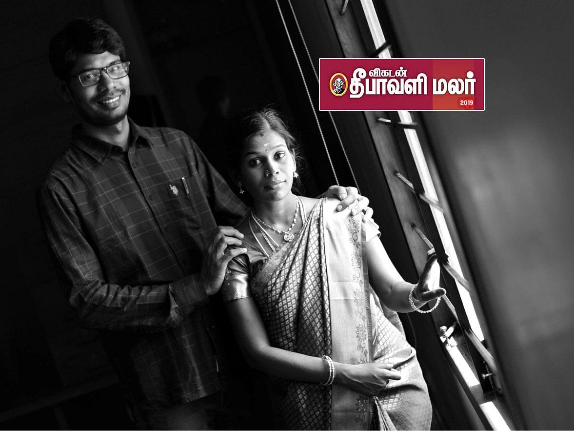 ஃபேஸ்புக் நட்பழைப்பில் துளிர்த்த கார்த்திக் நேத்தாவின் காதல் கதை! #VikatanDiwaliMalar2019