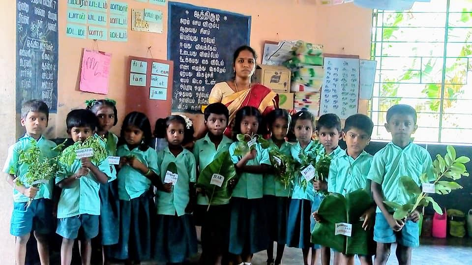 teacher revathi with students