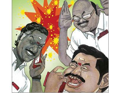 O. Panneerselvam, Jayakumar, Edappadi K. Palaniswami