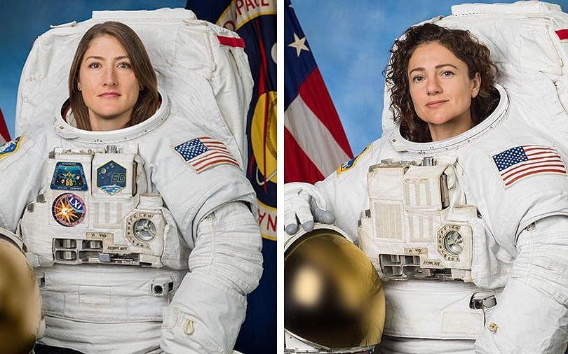 வரலாற்றில் இது முதல்முறை..!- ஆணின் உதவியில்லாமல் விண்ணில் சாதித்த சிங்கப் பெண்கள் #NASA