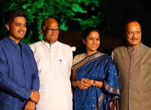 சரத்பவார் மற்றும் அஜித் பவார்