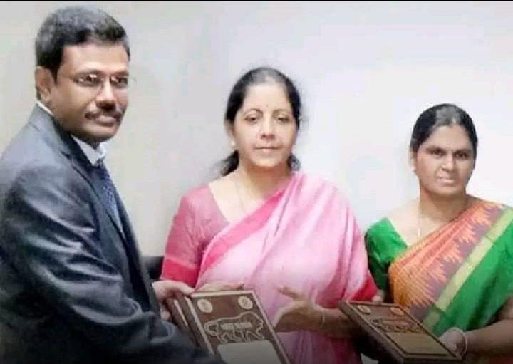 மத்திய அரசின் விருது பெறும் சிவசாமி